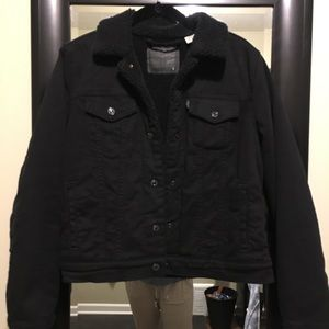 Black, Levi's Sherpa Jean Jacket